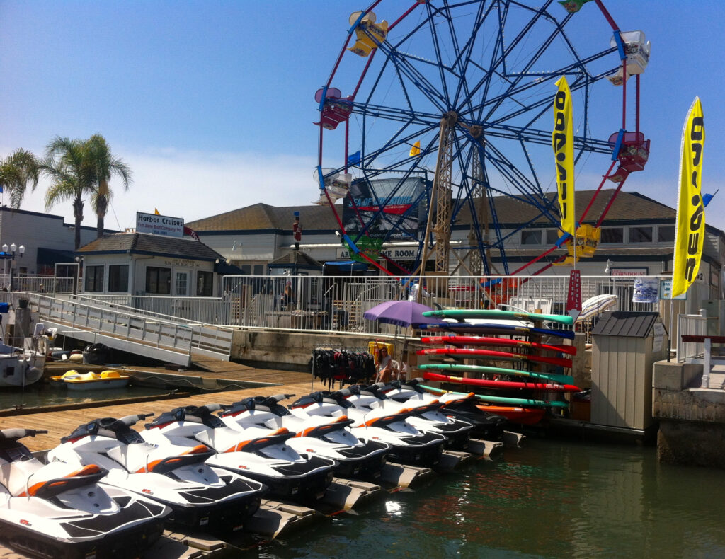 Balboa Water Sports location in Newport Beach, California.